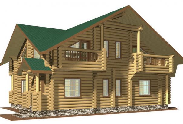 Усадьба с балконами ZS-DB2002